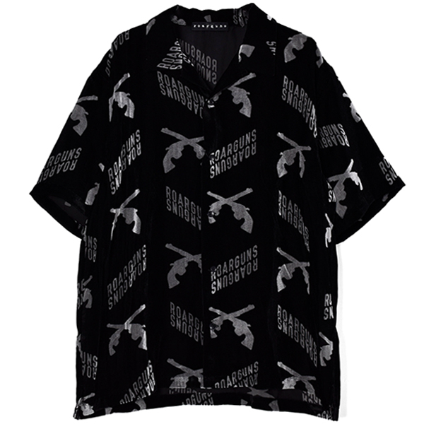 SUMMER VELVET CROSSGUN SHIRT/BLACK