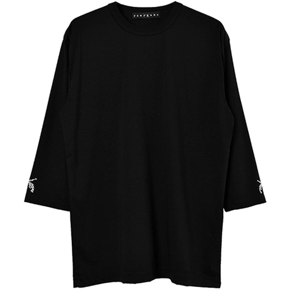 3/4 SLEEVE TEE/BLACK