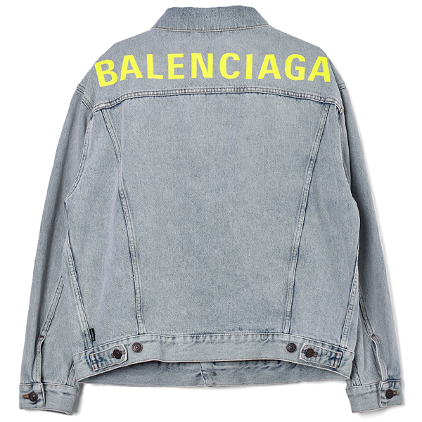 BACK LOGO DENIM JACKET/BLUE