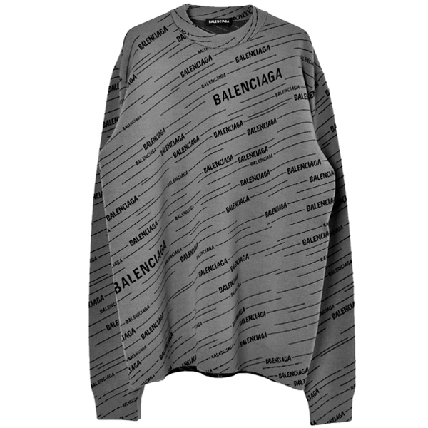 LOGO PULLOVER KNIT/GRAY/BLACK