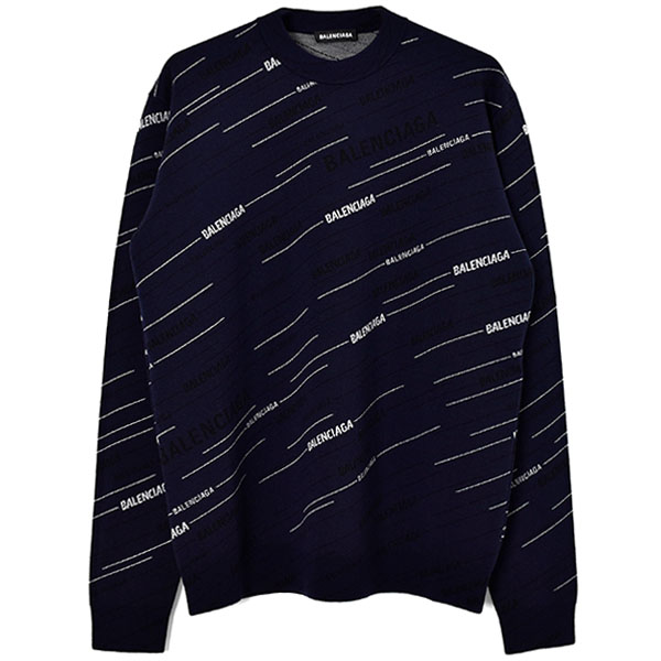 LOGO PULLOVER KNIT/NAVY/WHITE