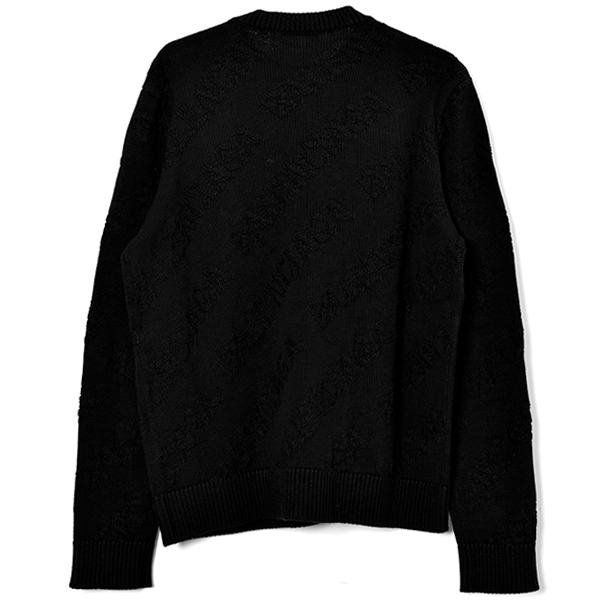 SHADOW LOGO KNIT SWEATER/BLACK