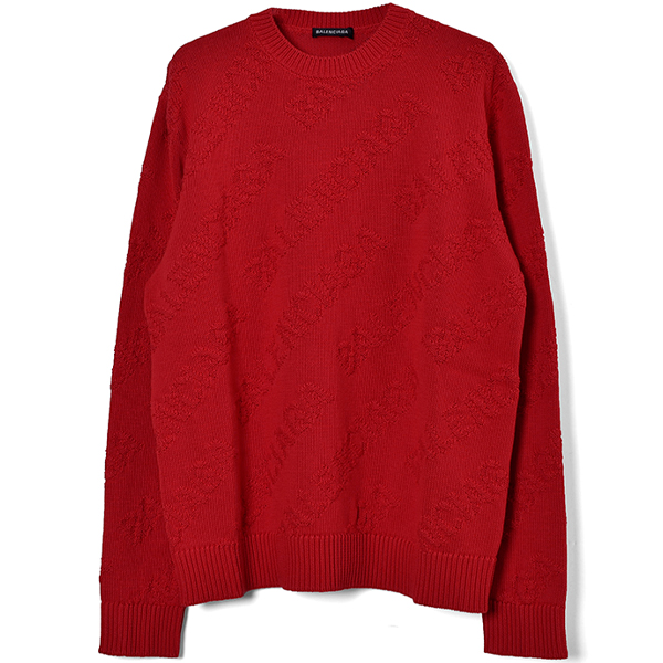 SHADOW LOGO KNIT SWEATER/RED