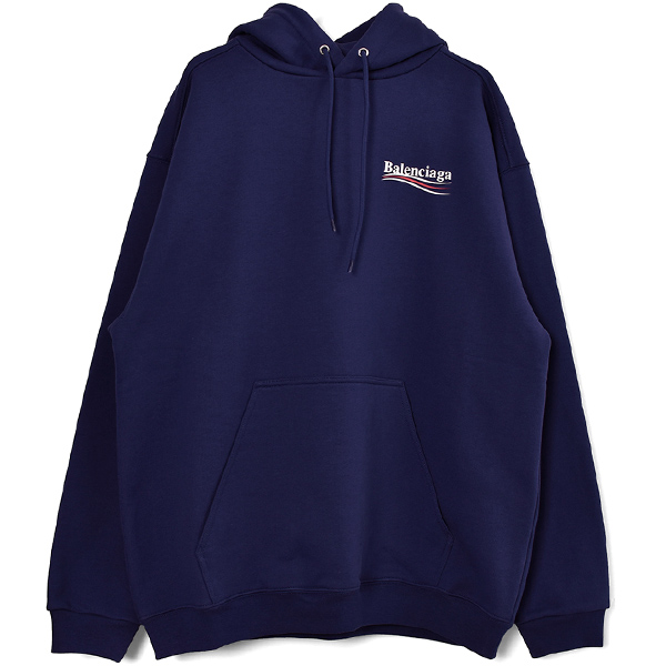 CAMPAIGN LOGO HOODIE/PACIFIC BLUE