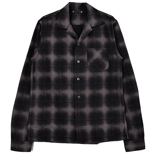 Discharge Check L/S Open Collar SH/BLACK