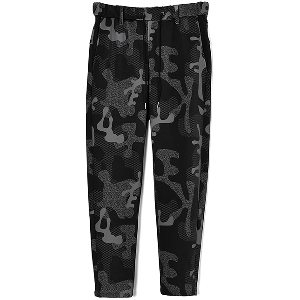wind through easy slacks/MONO CAMO