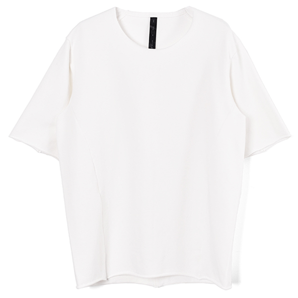 pin-tuck loose-T/WHITE