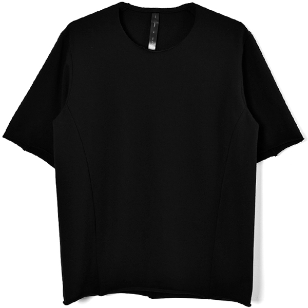 pin-tuck loose-T/BLACK
