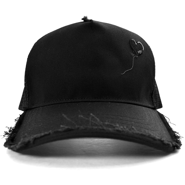 cut-off mesh cap (balloon)/BLACK