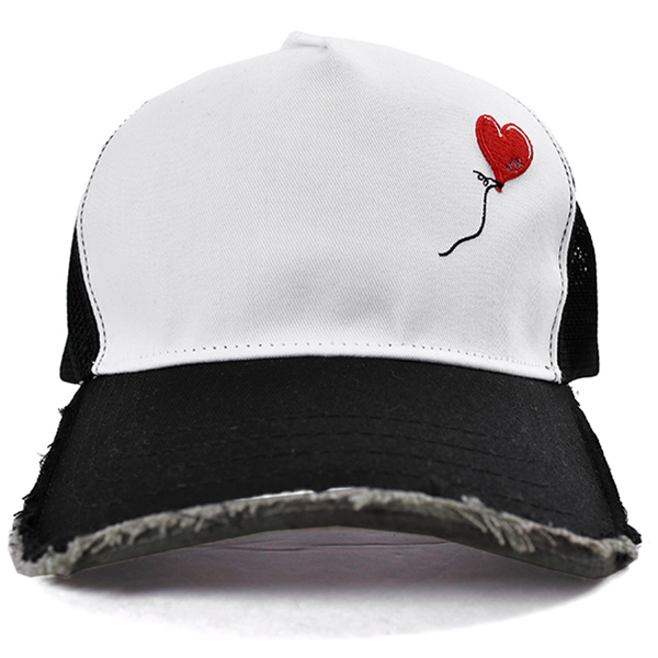 cut-off mesh cap (balloon)/WHITE