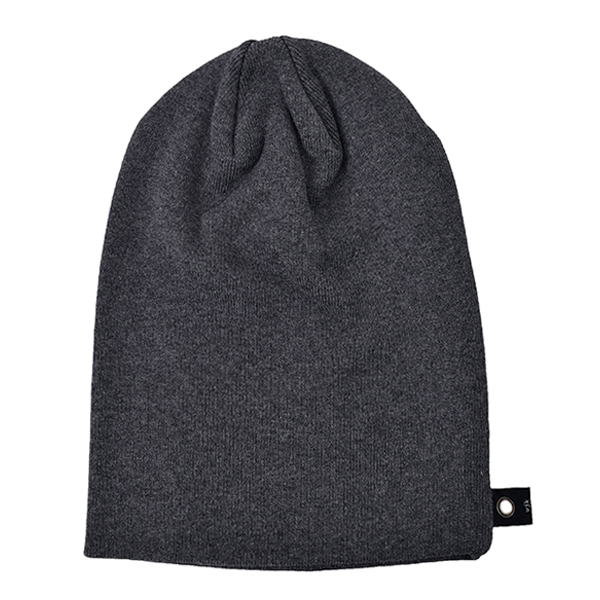 simple knit cap/CHARCOAL