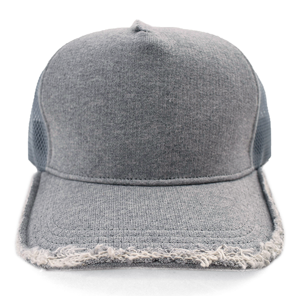 cut-off mesh cap/GRAY