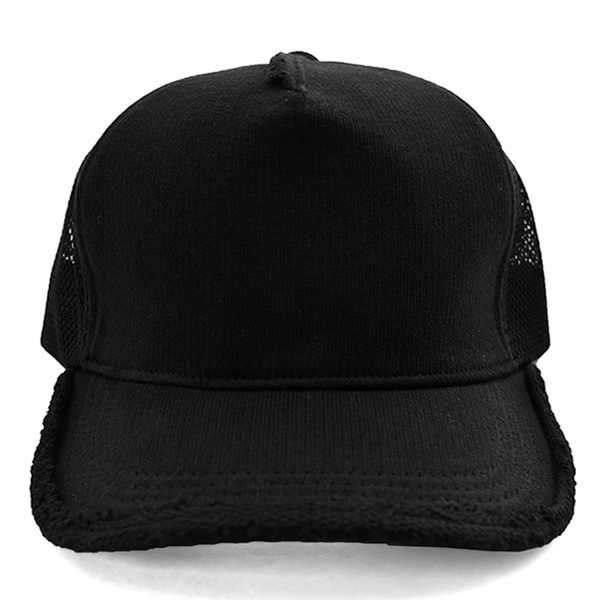 cut-off mesh cap/BLACK