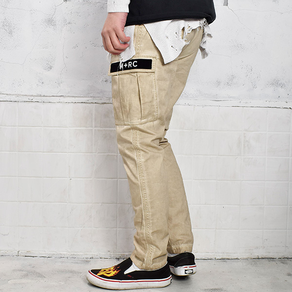 CARGO COTTON PANTS/BEIGE