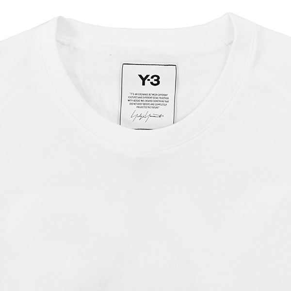 M CLASSIC BACK LOGO SS TEE/WHITE
