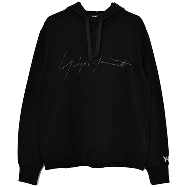 M DISTRESSED SIGNATURE HOODIE/BLACK