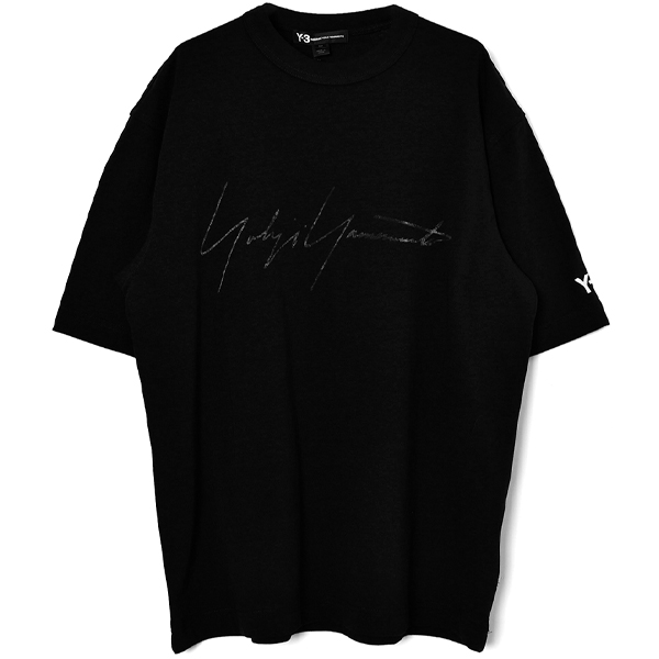 M DISTRESSED SIGNATURE SS TEE/BLACK