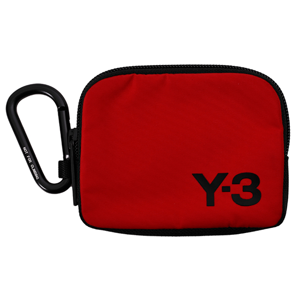 Y-3 LOGO POUCH/RED