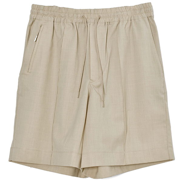 M CLASSIC REFINED WOOL STRETCH SHORTS/BEIGE