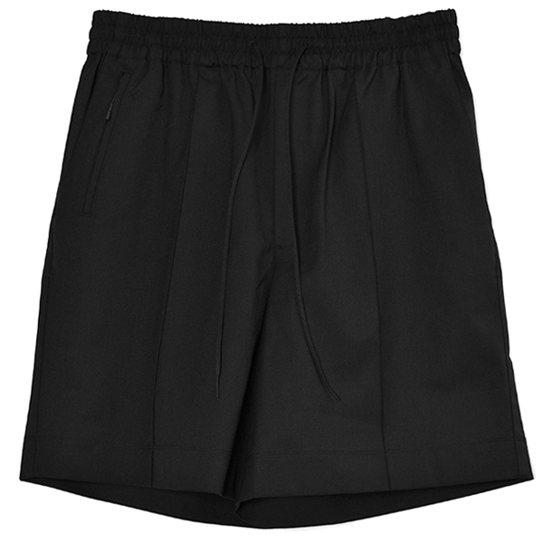 M CLASSIC REFINED WOOL STRETCH SHORTS/BLACK