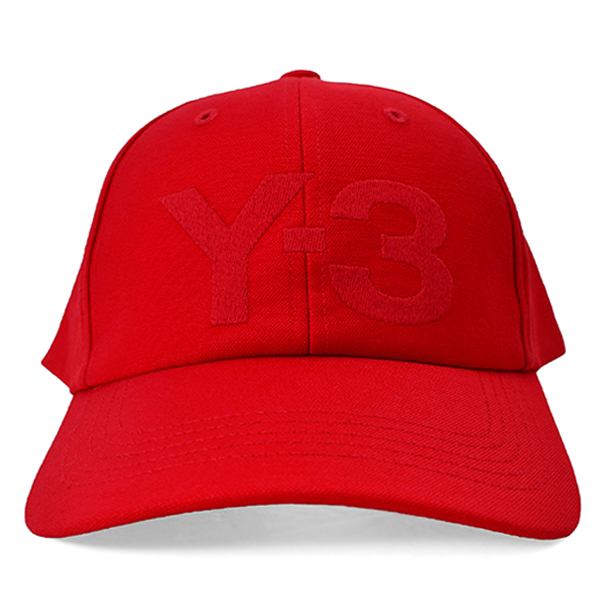 Y-3 LOGO CAP/RED