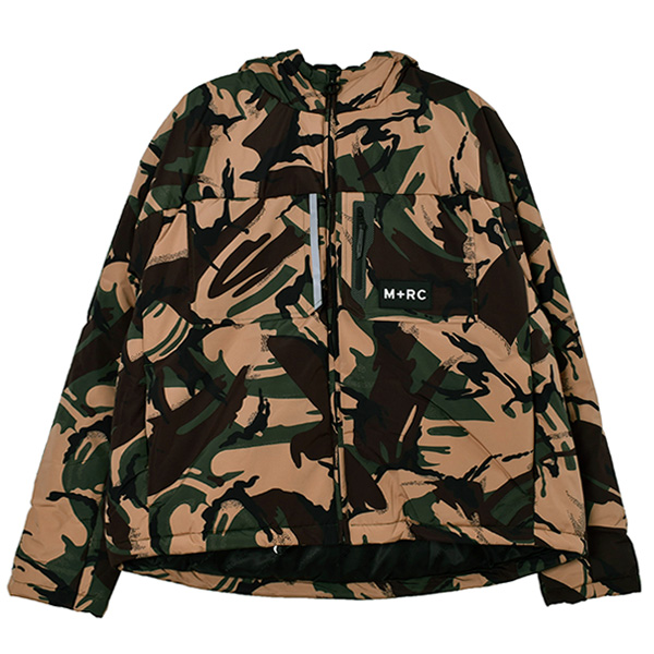 GREEN CAMO EAST PUFFER JACKET/GREEN