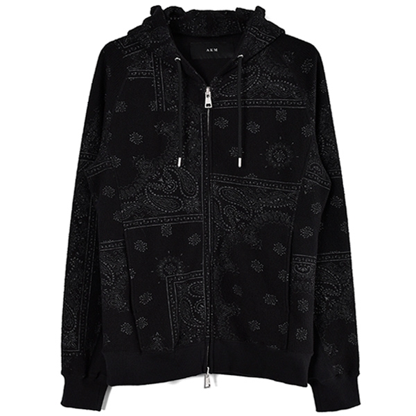 RAGLAN ZIP PARKA/BLACK