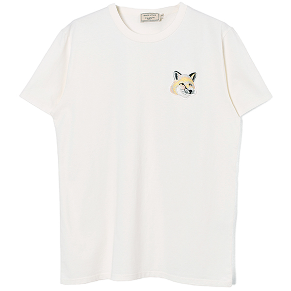 TEE-SHIRT BIG PASTEL FOX HEAD PATCH/OFF WHITE