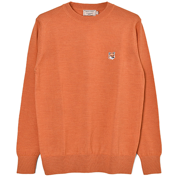 MERINOS R-NECK PULLOVER FOX HEAD PATCH/ORANGE
