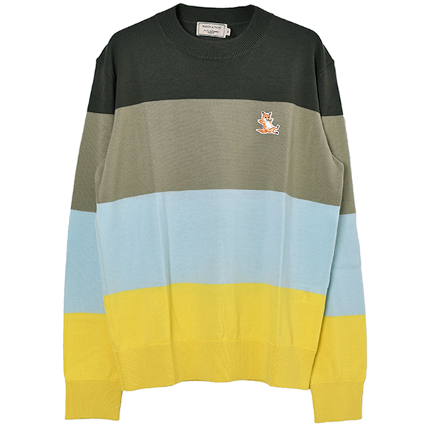 RAINBOW STRIPES PULLOVER/KHAKI