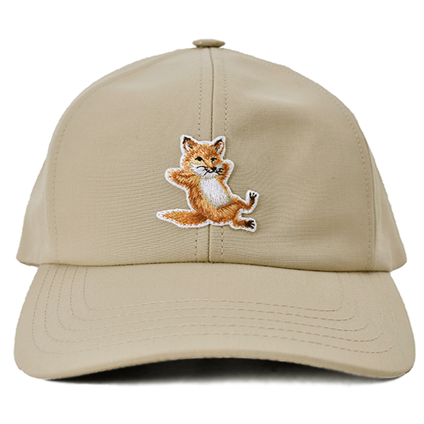 CAP 6P CHILLAX FOX PATCH/BEIGE