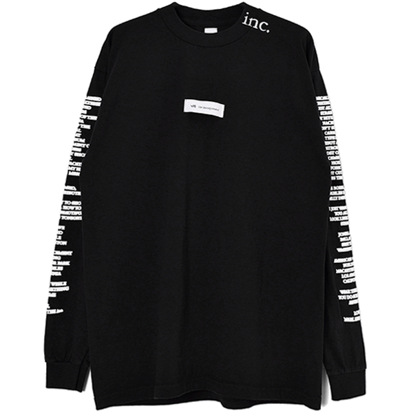 THE LABEL L/S T SHIRT/BLACK