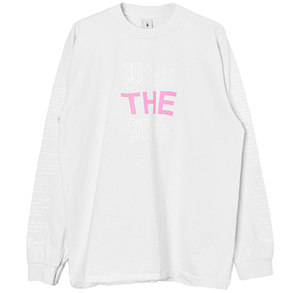 BLESS THE MESS L/S T SHIRT/WHITE