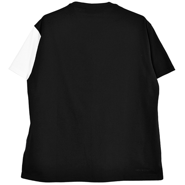 SWITCHING CENTER T-SHIRT/BLACK×WHITE