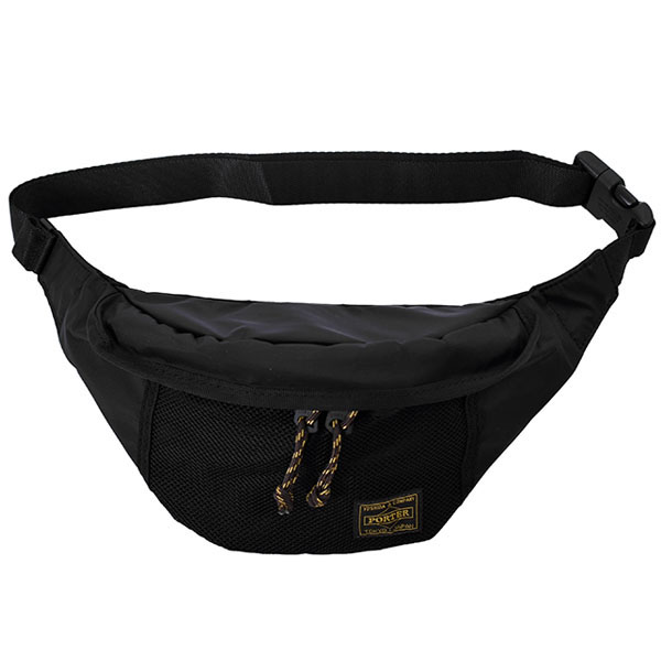 PORTER × SD Three Layer Lightweight Waist Bag/BLACK