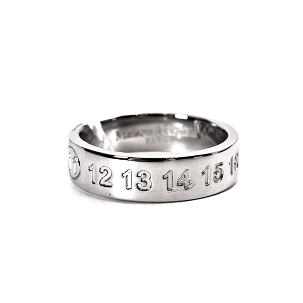 NUMBER RING/SILVER