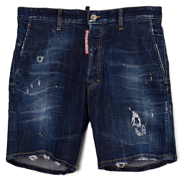 DENIM  SHORTS/INDIGO