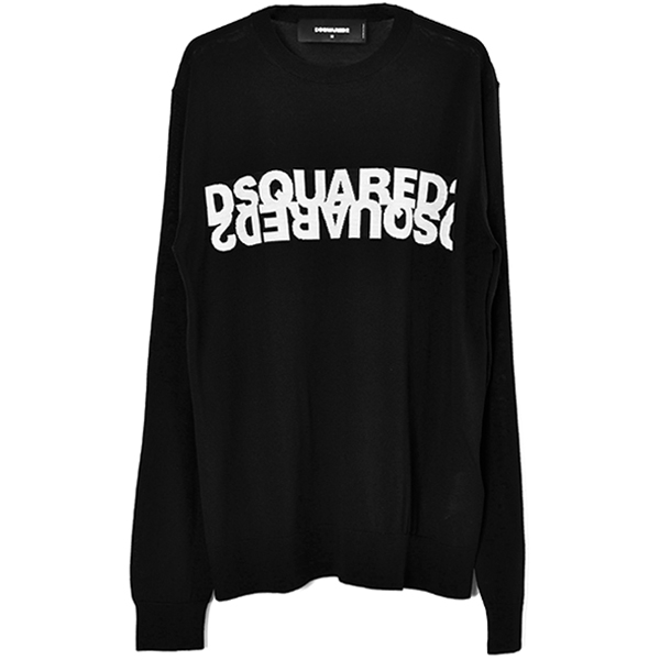 LOGO KNIT SWEATER/BLACK