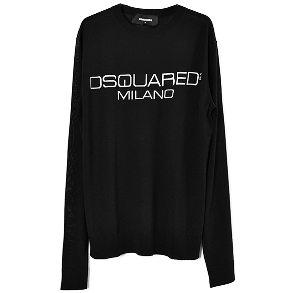 MILANO LOGO KNIT SWEATER/BLACK