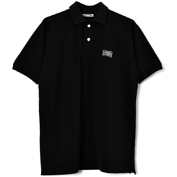 SD Giza Cotton Shield Logo Polo Shirt/BLACK