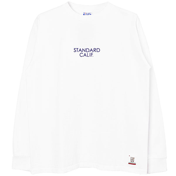 SD Heavyweight Long Sleeve T with Logo/WHITE