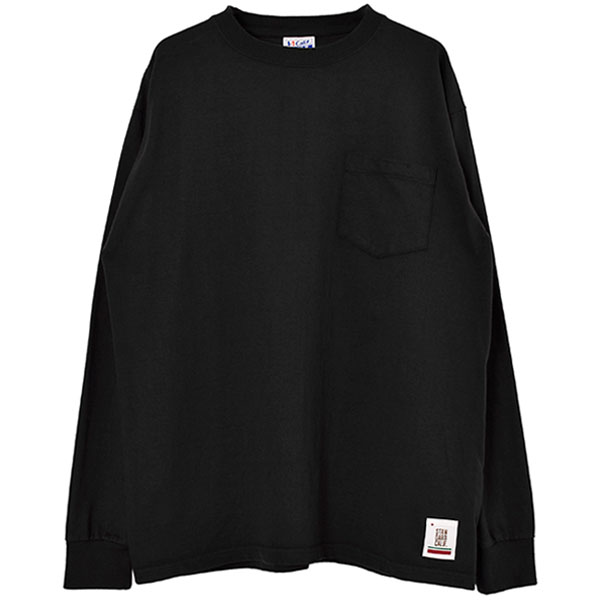 SD Heavyweight Pocket Long Sleeve T/BLACK