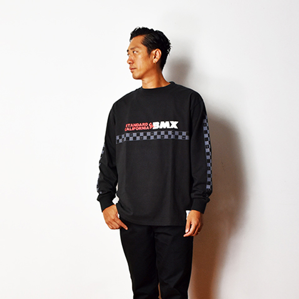 SD Heavyweight BMX Logo Long Sleeve T/BLACK