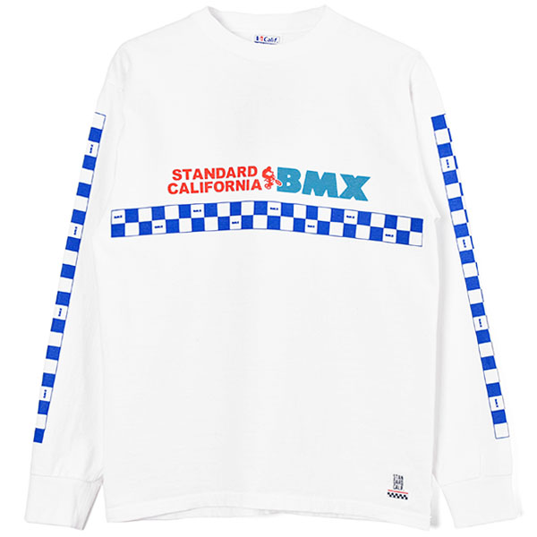 SD Heavyweight BMX Logo Long Sleeve T/WHITE