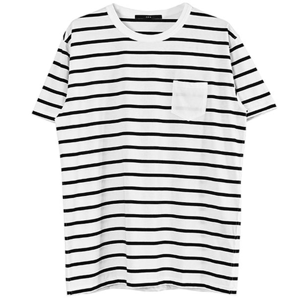 POCKET BIG T/WHITE×BLACK