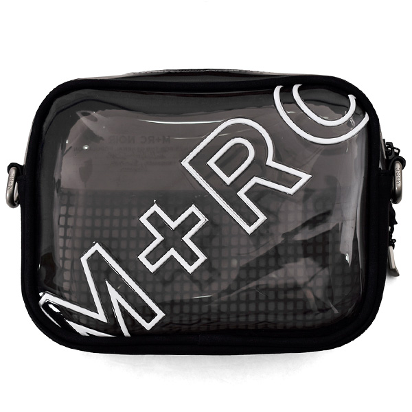 TRANSPARENT RUBBER MESH BAG/BLACK