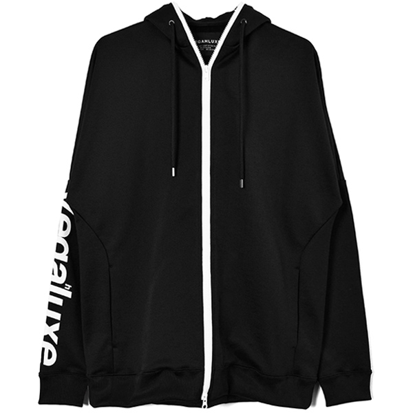 COLOR FULL ZIP PARKA/BLACK/WHITE