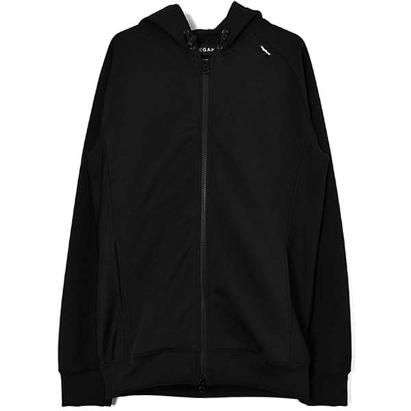 AIR KNIT ZIP UP PARKA/BLACK