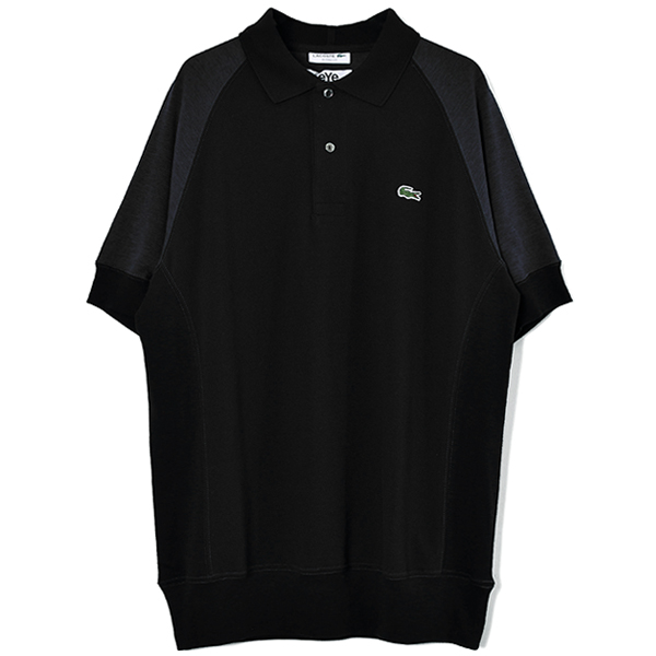 eYe COMME des GARCONS JUNYA WATANABE MAN × LACOSTE ポロシャツ/黒(WE-T902-100)