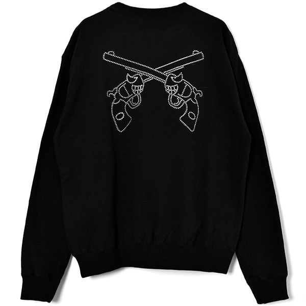 BAD PISTOL SWAROVSKI C/N SWEAT/BLACK